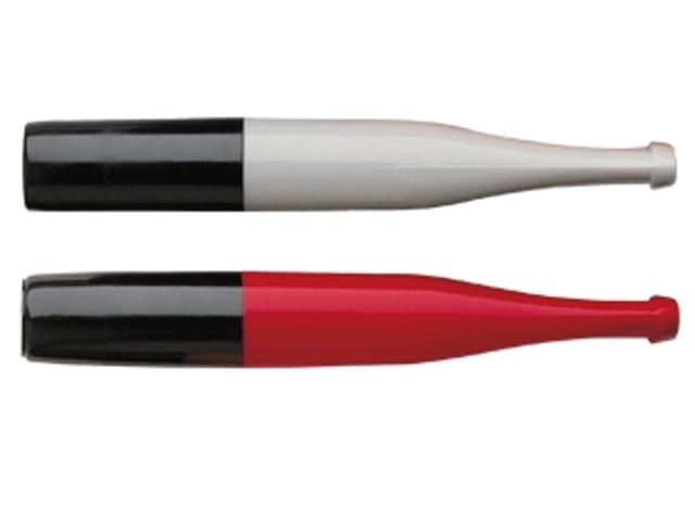 4033 - Πίπα για κανονικό τσιγάρο DENICOTEA 20210 άσπρη κόκκινη (made in Germany)