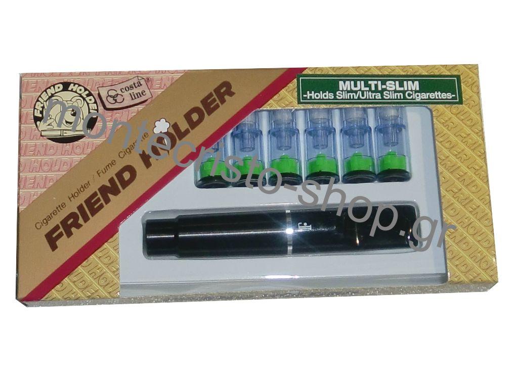 Πίπα για στριφτό μαύρη Friend Holder multi slim 5,3mm 5,5mm και 6mm