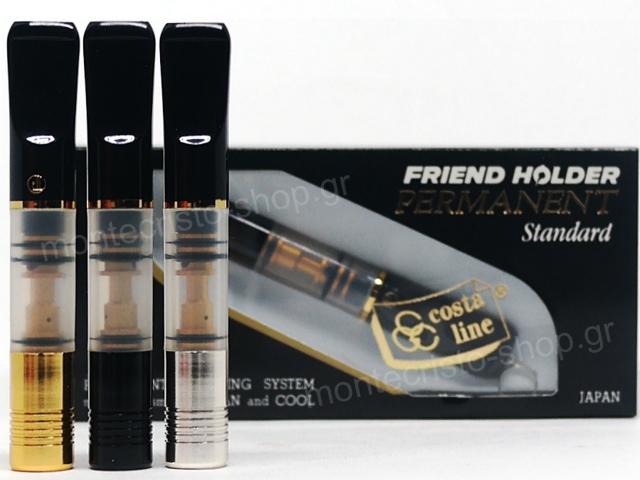 8191 - Πίπα για τσιγάρο Friend Holder PERMANENT PM-10S 8mm αυτοκαθαριζόμενη χωρίς ανταλλακτικό (made in Japan)