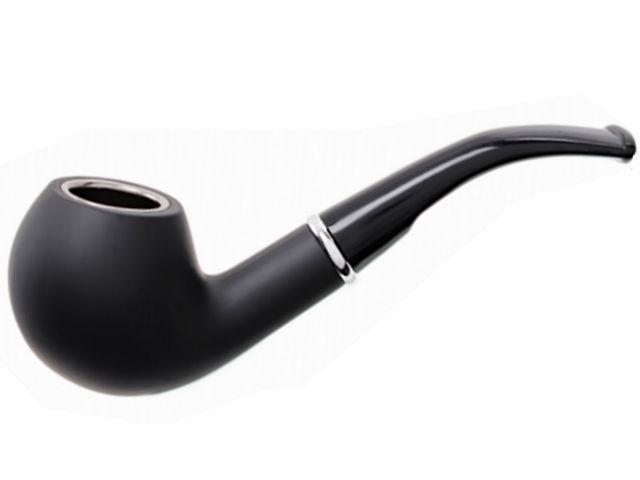 10850 - Πίπα καπνού ATOMIC Metallic Rubber Μαύρη 0212792 (μεταλλική rubber επικάλυψη)