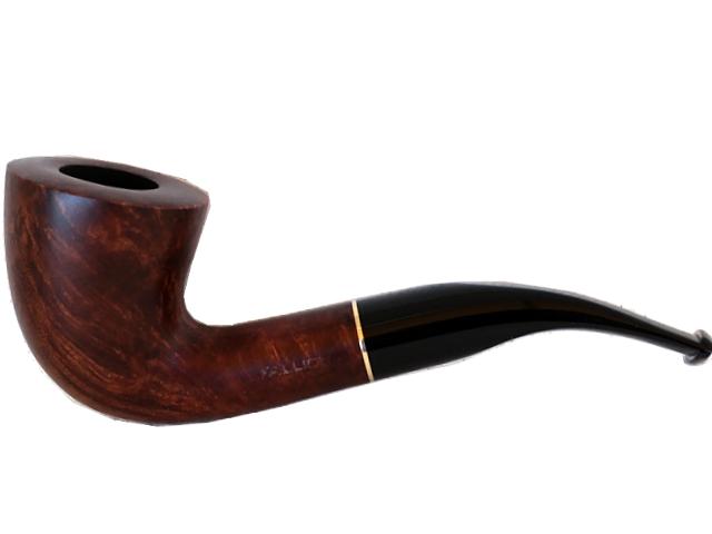 4443 - Πίπα καπνού FALLION 95 BRASS MAT καφέ κυρτή 9mm