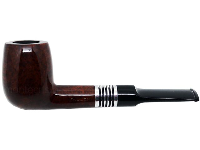 7085 - Πίπα καπνού FALLION SILVER SYS 10 καφέ ίσια 9mm (υγροπαγίδα)
