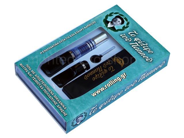Πίπα του παππού με μηχανικά φίλτρα 42902-140 (μαγνήτες) αυτοκαθαριζόμενη για κανονικό τσιγάρο 8mm