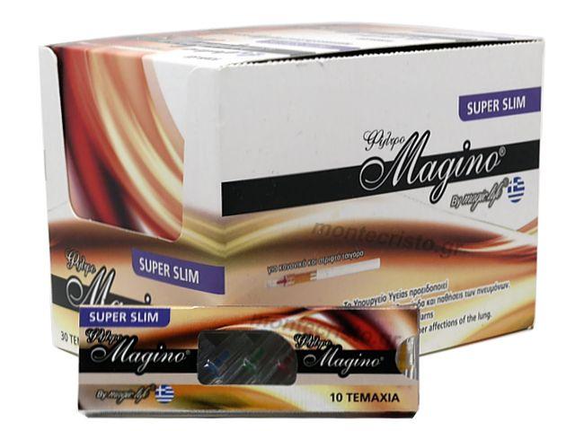 10716 - ΠΙΠΑΚΙΑ MAGIC LIFE MAGINO 10 SUPER SLIM 5.7mm ΠΙΠΑ ΤΣΙΓΑΡΟΥ (κουτί των 30)