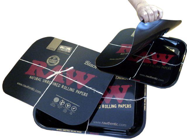 11028 - RAW BLACK ROLLING TRAY METAL + ΚΑΠΑΚΙ ΜΑΓΝΗΤΗ SMALL & MEDIUM ΔΙΣΚΟΙ ΓΙΑ ΣΤΡΙΦΤΟ (2 ΜΕΓΕΘΗ)