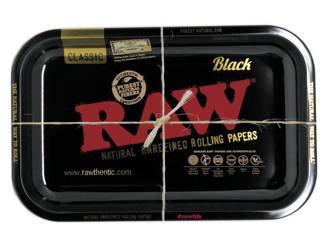10390 - RAW BLACK ROLLING TRAY METAL SMALL & MEDIUM ΔΙΣΚΟΙ ΓΙΑ ΣΤΡΙΦΤΟ (2 ΜΕΓΕΘΗ)