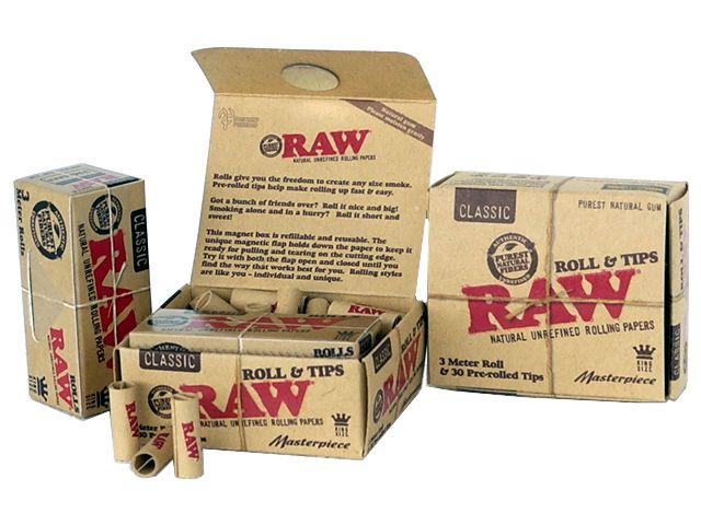 RAW ROLL & TIPS CLASSIC UNREFINED (ρολό & προτυλιγμένες τζιβάνες) 3 μέτρα