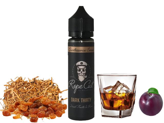 9183 - ROPE CUT Flavour Shot DARK THIRTY 20/60ml (καπνικό με ρούμι, δαμάσκηνα και σταφίδες)