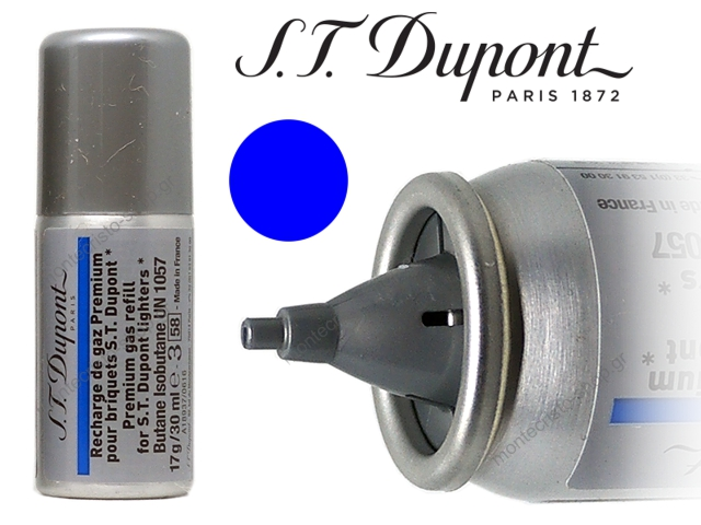 7928 - S T dupont Blue Gas Refill aέριο αναπτήρων 30ml