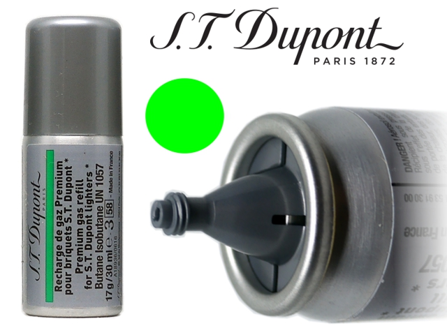 7927 - S T dupont Green Gas Refill aέριο αναπτήρων 30ml