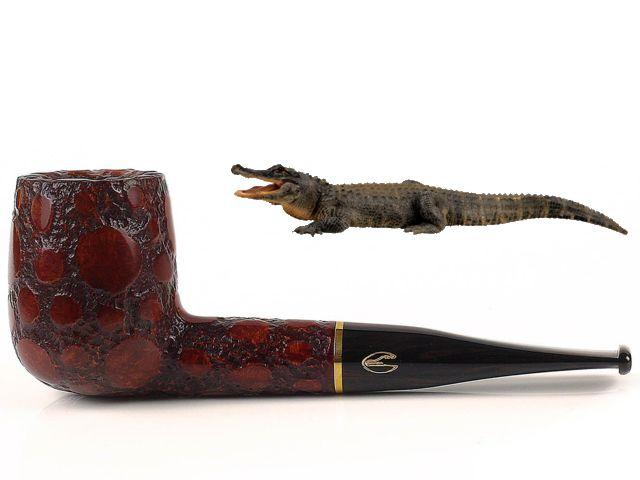 10447 - SAVINELLI ALLIGATOR 141 BROWN 9mm πίπα καπνού ίσια