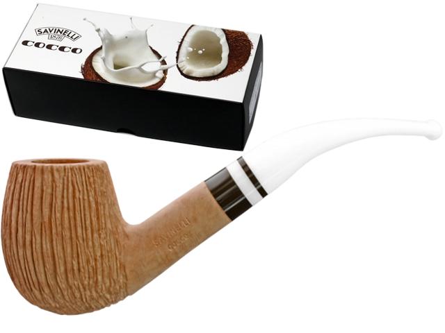 10004 - SAVINELLI COCCO 670 KS 9mm RUSTIC πίπα καπνού κυρτή