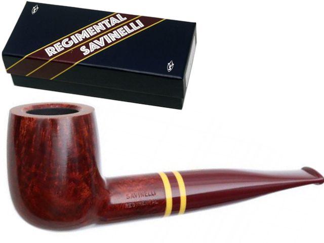 10121 - SAVINELLI REGIMENTAL 101 SMOOTH 9mm BURGUNDY πίπα καπνού ίσια