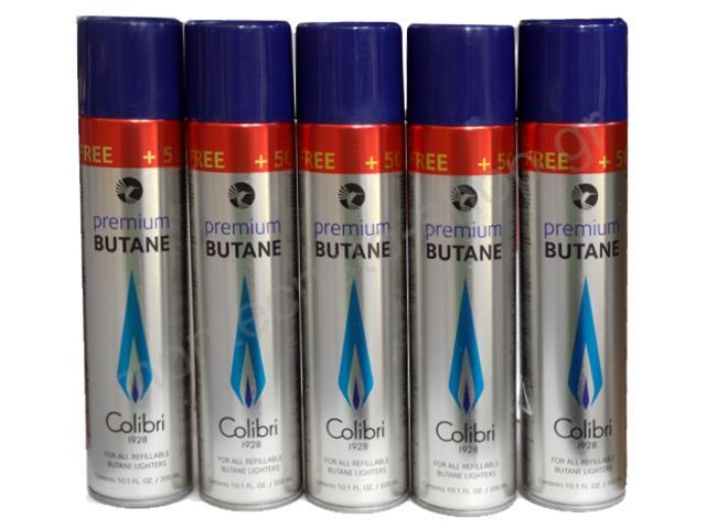Σετ με 5 φιάλες αερίου Colibri για αναπτήρες 400ml (made in Belgium)