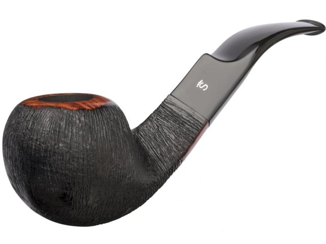 8463 - Stanwell Brushed Black 15 9mm Pipe πίπα καπνού κυρτή