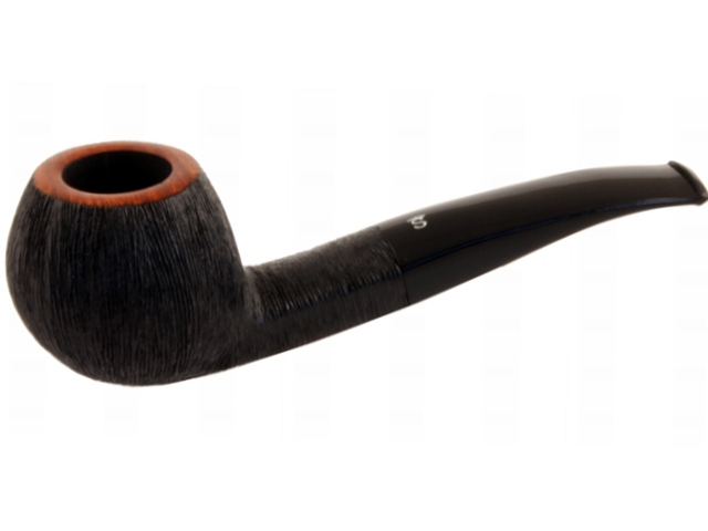 8465 - Stanwell Brushed Black 182 9mm Pipe πίπα καπνού ημίκυρτη
