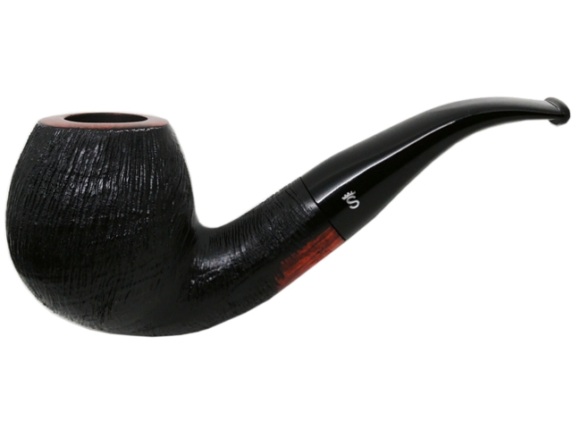 6941 - Stanwell Pipe Brushed Black 185 9mm πίπα καπνού κυρτή