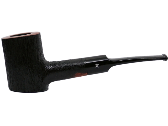 Stanwell Pipe Brushed Black 207 9mm πίπα καπνού ημίκυρτη