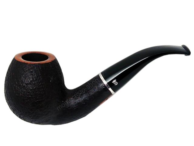8472 - Stanwell Relief 185 Black Sand 9mm πίπα καπνού κυρτή