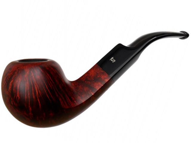 10555 - Stanwell Silkebrun 15 Brown πίπα καπνού κυρτή 9mm