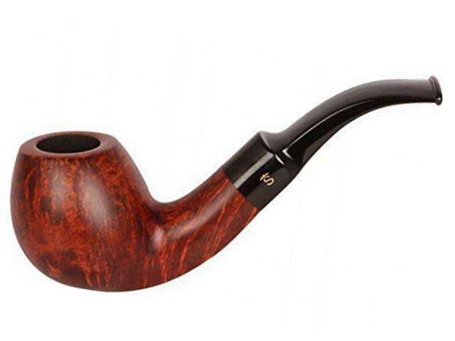 10553 - Stanwell Silkebrun 232 Brown πίπα καπνού κυρτή 9mm