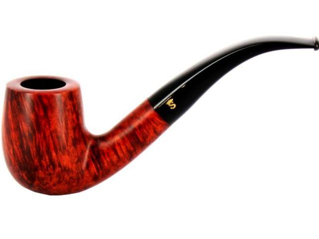 10558 - Stanwell Silkebrun 246 Brown πίπα καπνού κυρτή 9mm