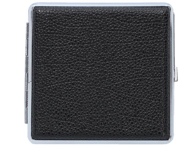 11375 - Ταμπακιέρα για 20 τσιγάρα MADO 665-9000 μεταλλική μαύρη ακρυλική