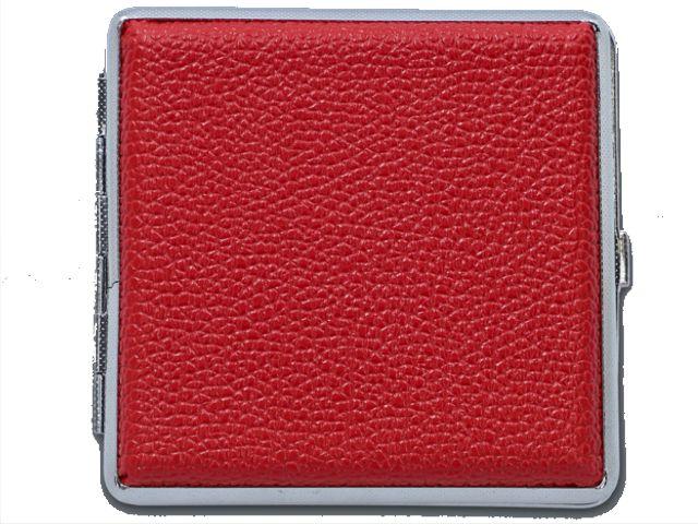 11575 - Ταμπακιέρα για 20 τσιγάρα MADO 665-9017 μεταλλική κόκκινη ακρυλική