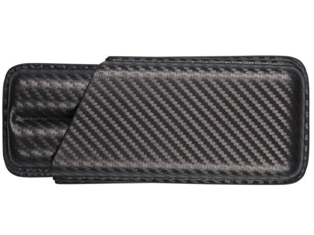 11667 - Θήκη για 2 πούρα Carbon 99623815 - Double Corona Churchill Torpedo, Lonsdale 18.5cm