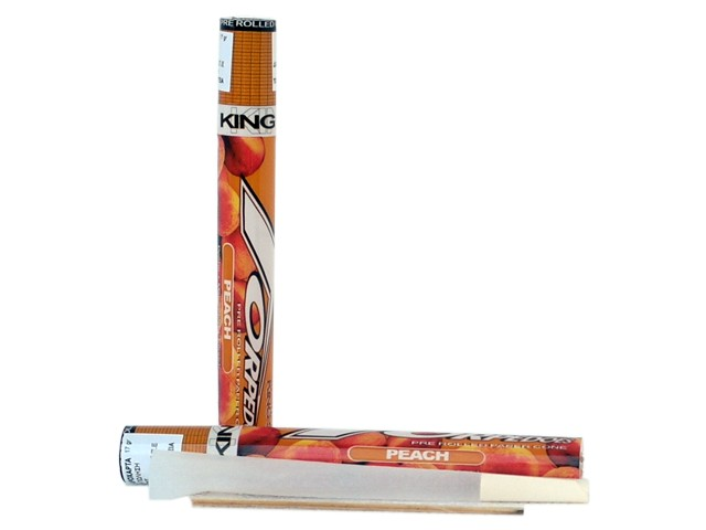 6198 - TORPEDOES King Size pre rolled paper cone PEACH (ροδάκινο)