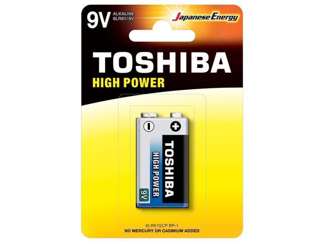 11679 - TOSHIBA 9V HIGH POWER ΑΛΚΑΛΙΚΗ (1 ΜΠΑΤΑΡΙΑ)