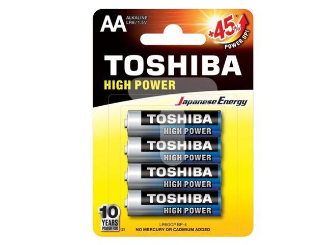 11675 - TOSHIBA AA HIGH POWER +45% ΑΛΚΑΛΙΚΕΣ (4 ΜΠΑΤΑΡΙΕΣ)