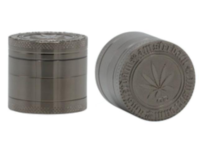 11698 - Τρίφτης καπνού AMSTERDAM 40mm Grinder BNN-15BK silver black τετραπλός