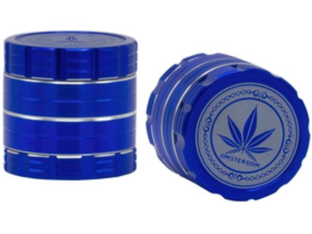11699 - Τρίφτης καπνού AMSTERDAM 40mm Grinder RGN-22 Blue τετραπλός