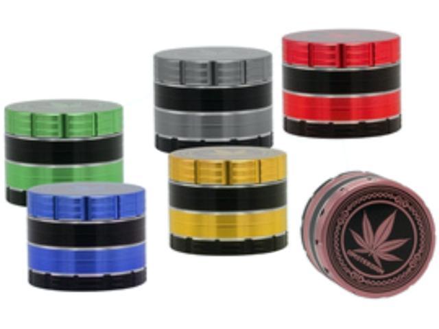 11707 - Τρίφτης καπνού AMSTERDAM 50mm Grinder 05006 MIX τετραπλός (μεταλλικός)