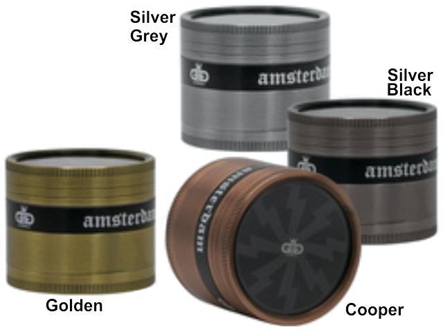 11747 - Τρίφτης καπνού AMSTERDAM 50mm Grinder BN42 MIX τετραπλός (μεταλλικός)