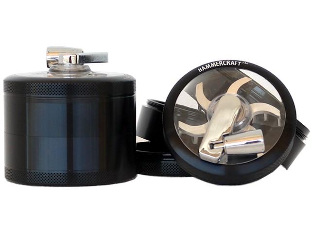 Τρίφτης καπνού ΜΥΛΟΣ GRINDER HAMMERCRAFT MILL BLACK by CNC 65mm 12583 (αλουμίνιο)