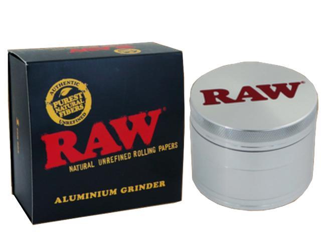 11726 - Τρίφτης καπνού RAW ALUMINIUM 56mm τετραπλός 14062
