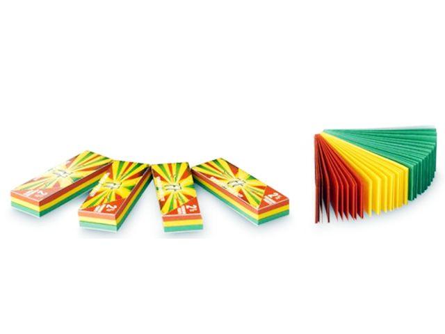 3700 - Τζιβάνες JaJa filtertips booklet Rasta with folding line (διάτρητες)