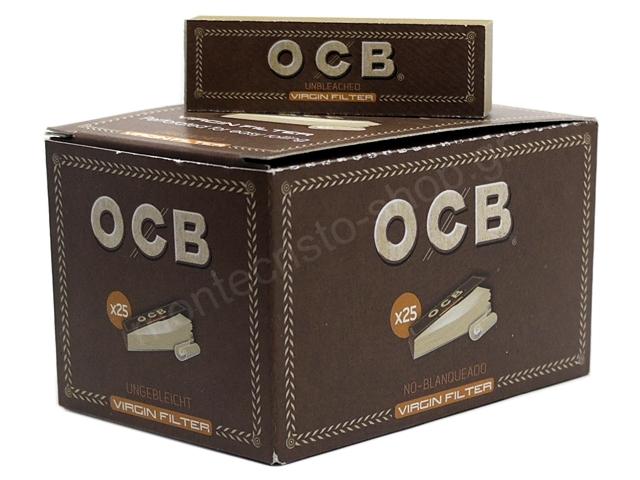 8522 - Τζιβάνες OCB VIRGIN FILTER UNBLEACHED 50 (κουτί των 25)