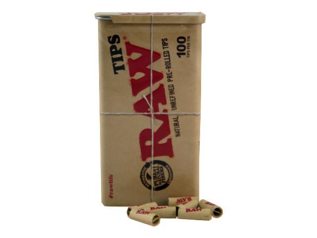 Τζιβάνες RAW pre-rolled tips 100 (σε μεταλλικό κουτάκι) 280699