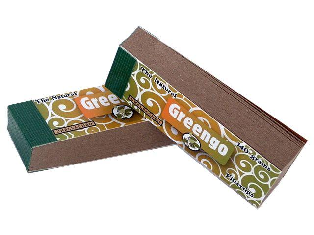 Τζιβάνες στριφτού τσιγάρου Greengo Unbleached filtertips