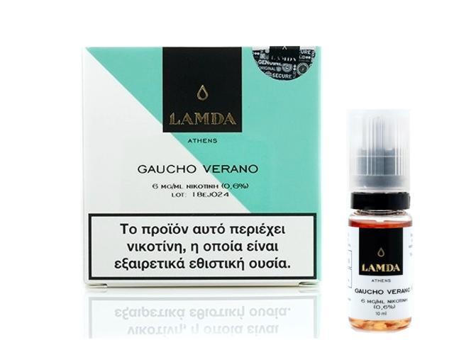 11736 - Υγρό αναπλήρωσης LAMDA GAUCHO VERANO 3*10ml (καπνικό με καραμέλα, βανίλια και ξηρούς καρπούς)