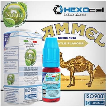 3963 - Υγρό αναπλήρωσης Natura CHAMILLA CAMEL από την Hexocell (καπνικό) 10 ml