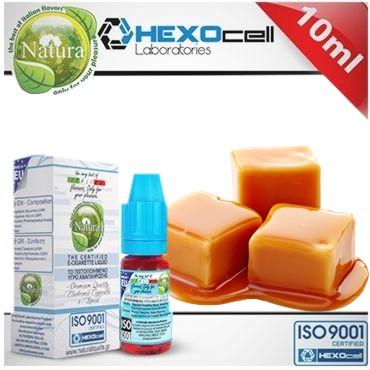 6587 - Υγρό αναπλήρωσης Natura MELT MY HEART CARAMEL από την Hexocell (καραμέλα) 10 ml
