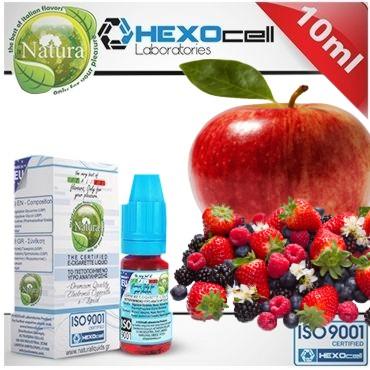 6375 - Υγρό αναπλήρωσης Natura FOREST APPLEZ από την hexocell 10ml (μήλο & φρούτα δάσους)