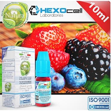 4687 - Υγρό αναπλήρωσης Natura FOREST PLEASURES FRUITS MIX από την Hexocell 10 ml (φρούτα δάσους)