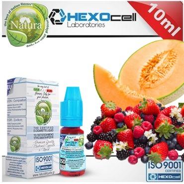 6377 - Υγρό αναπλήρωσης Natura FOREST MELONZ από την hexocell 10ml (πεπόνι & φρούτα δάσους)
