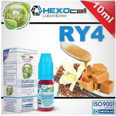 3969 - Υγρό αναπλήρωσης Natura RY4 από την Hexocell (καπνικό) 10 ml
