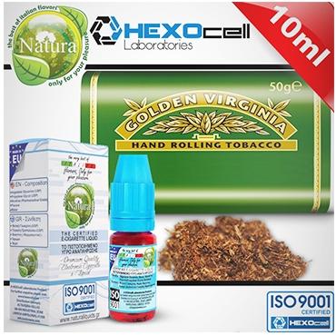 3970 - Υγρό αναπλήρωσης Natura VIRGINIA από την Hexocell (καπνικό) 10 ml
